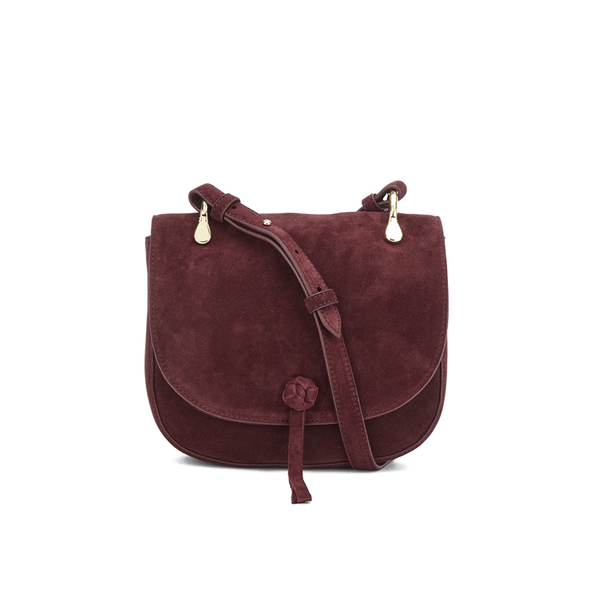 Elizabeth and James Women's Zoe Saddle Bag - Bordeaux
