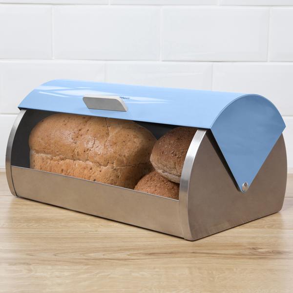 Morphy Richards Bread: Morphy Richards 974002 Bread Bin Roll Top Cornflower Blue