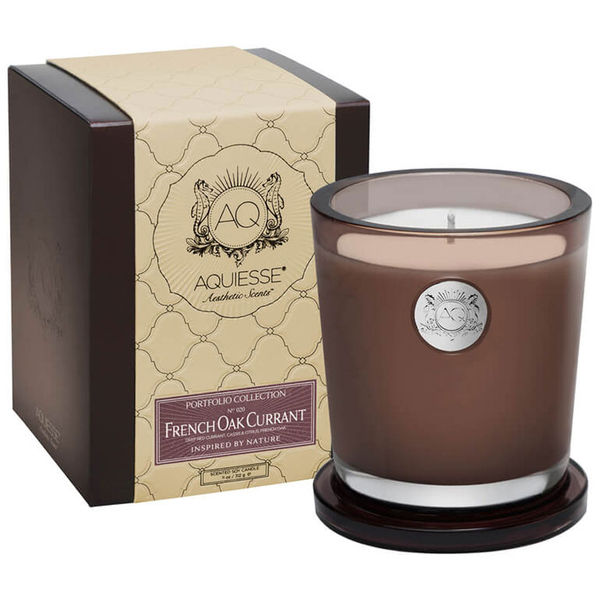 Aquiesse Large Glass Jar Candle - French Oak Currant