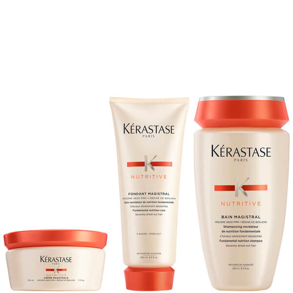 Kérastase Nutritive Fondant Magistral 200ml & Nutritive Bain Magistral 250ml & Nutritive Creme Magistral 150ml
