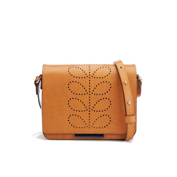 Orla Kiely Women's Mini Ivy Leather Cross Body Bag - Tan
