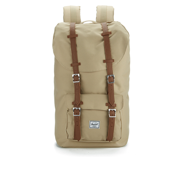 4758e95359b Herschel Supply Co. Little America Backpack - Khaki Tan Synthetic Leather   Image 1
