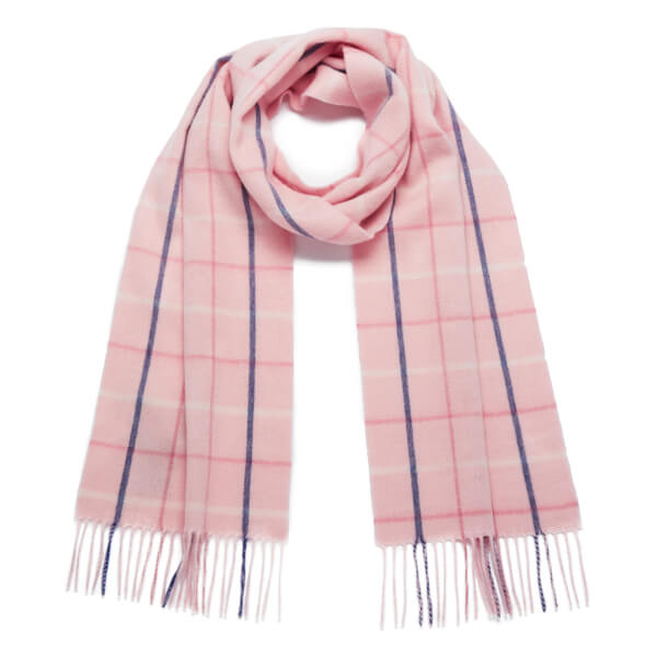 Barbour Women's Country Tattersall Scarf - Pink Plaid