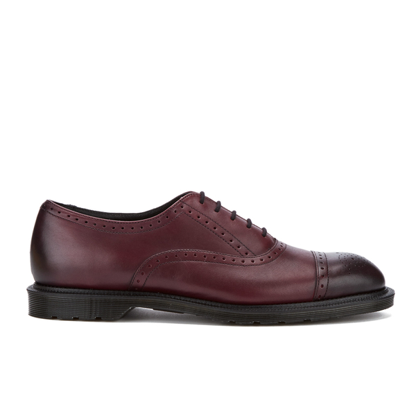 Dr. Martens Men's Morris Antique Temperley Brogues - Cherry Red