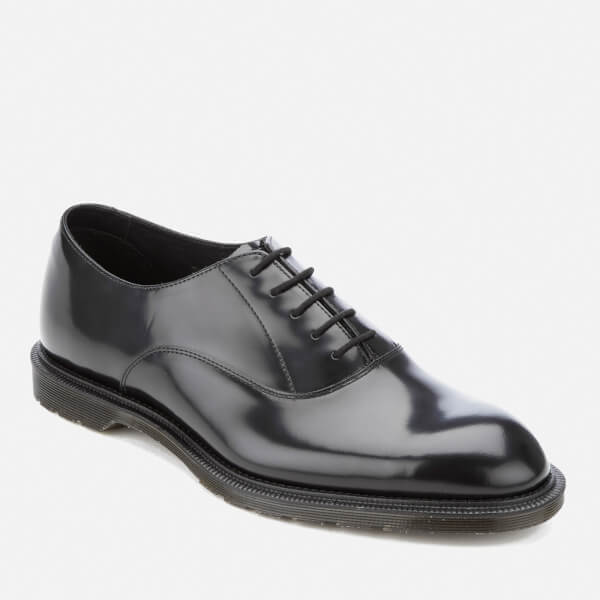 Dr. Martens Men's Henley Fawkes Polished Smooth Oxford Shoes - Black: Image  2