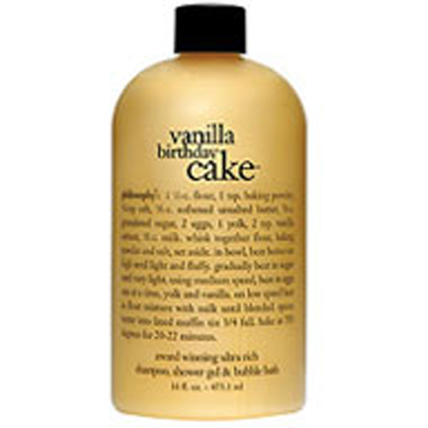 philosophy vanilla birthday cake shampoo, bath & shower gel