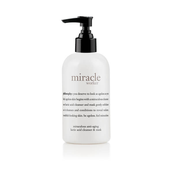 philosophy miracle worker lactic acid cleanser and mask