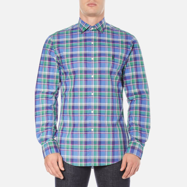 Polo Ralph Lauren Men's Long Sleeve Checked Poplin Shirt - Liberty
