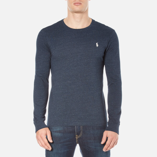 Polo Ralph Lauren Men's Long Sleeve Crew Neck Custom Fit T-Shirt - Blue Eclipse