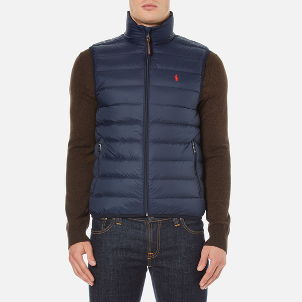 Polo Ralph Lauren Men's Lightweight Down Vest - Aviator Navy