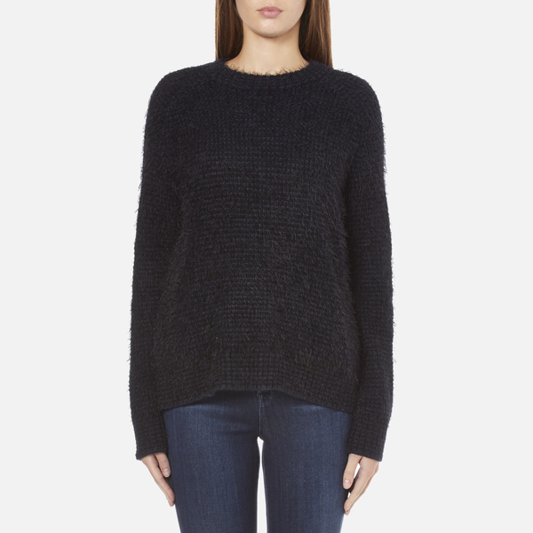Samsoe & Samsoe Women's Joi O Neck Jumper - Dark Blue Melange