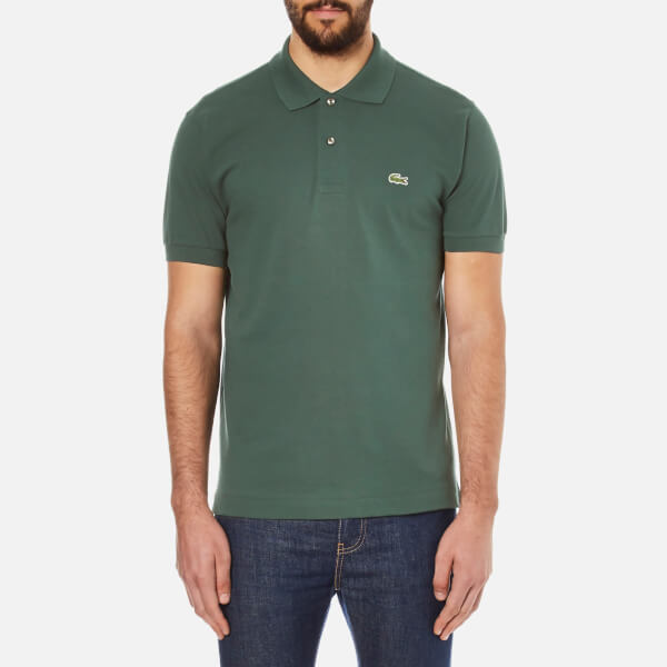 Lacoste Men's Basic Pique Short Sleeve Polo Shirt - Kelp