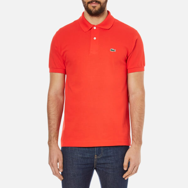 Lacoste Men's Basic Pique Short Sleeve Polo Shirt - Redcurrent Bush