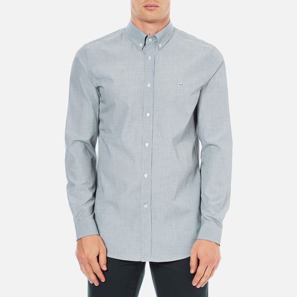 Lacoste Men's Long Sleeved City Shirt - Philippines Blue