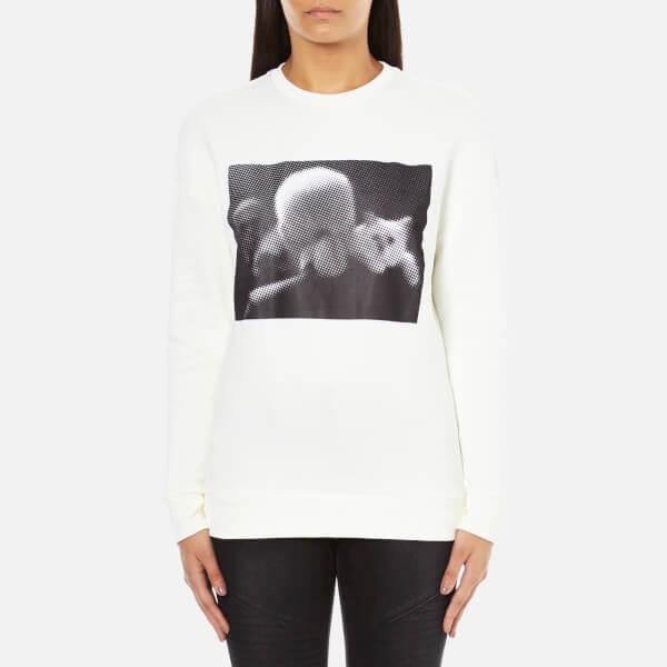 Karl Lagerfeld Women's Karl & Choupette Sweatshirt - White