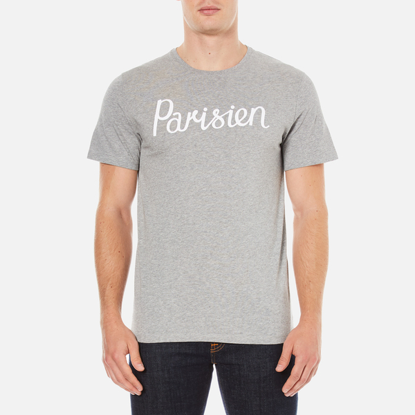 Maison Kitsuné Men's Parisian T-Shirt - Grey Melange