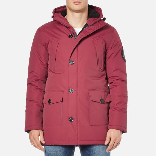 Superdry Men's Everest Parka - Wine Red Clothing | TheHut.com