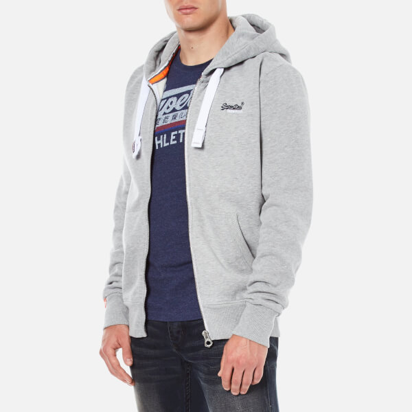 Superdry Men s Orange Label Zip Hoodie - Grey Marl Mens Clothing ... bab953055dbc