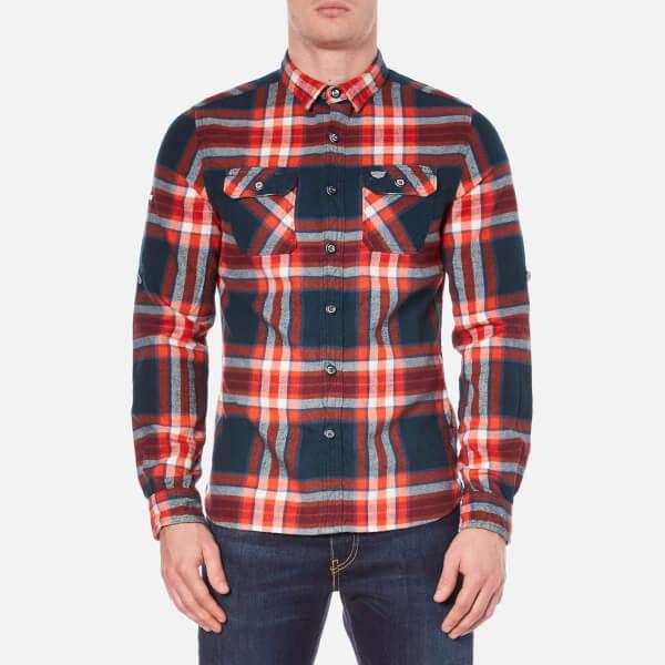 Superdry Men's Refined Lumberjack Long Sleeve Shirt - Uprising Navy Check