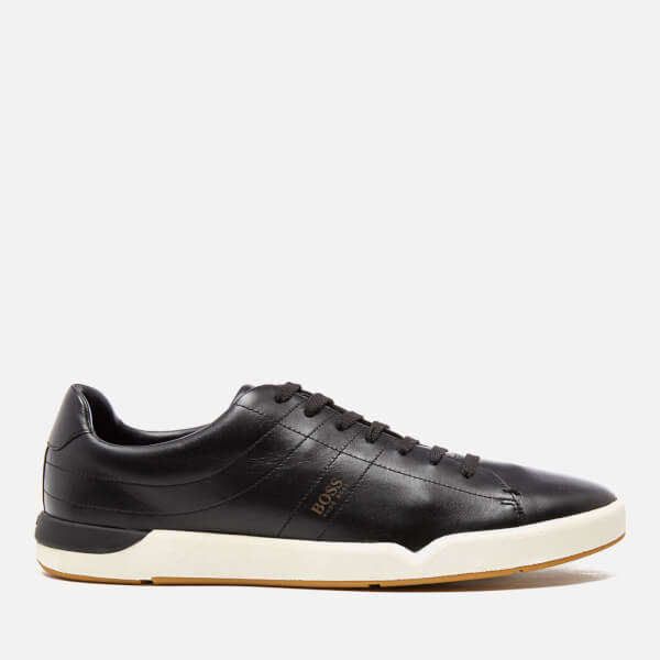 BOSS Orange Men's Stillness Tenn Leather Trainers - Black