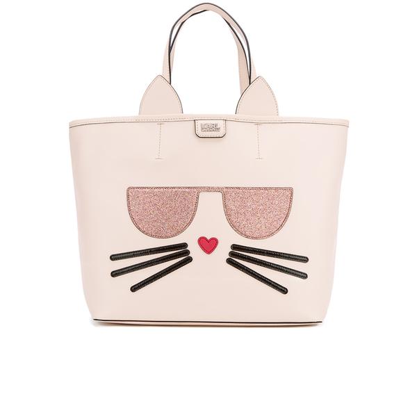 Karl Lagerfeld Women's K/Kocktail Choupette Shopper Bag - Sea Shell