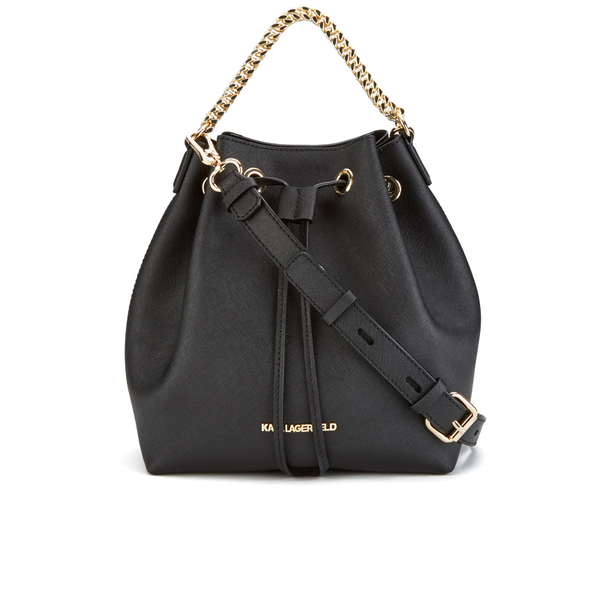 Karl Lagerfeld Women S K Klassik Drawstring Bag Black Image 1