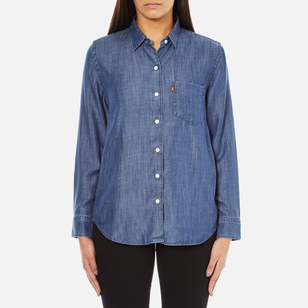 Levi's Women's Sidney 1 Pocket Boyfriend Shirt - Ocean Blue