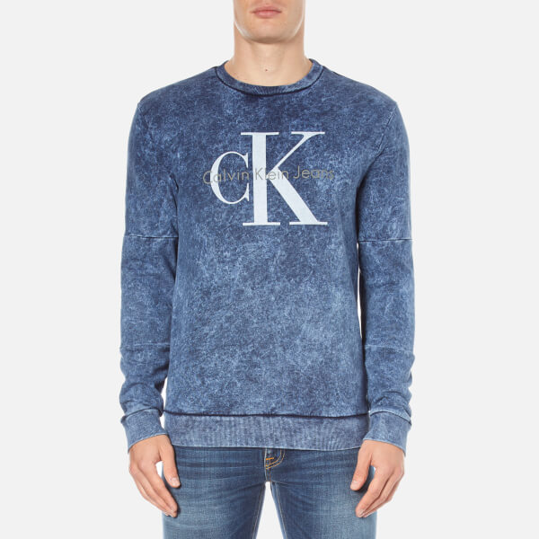 Calvin Klein Men's Hinter Crew Neck Sweatshirt - Night Sky