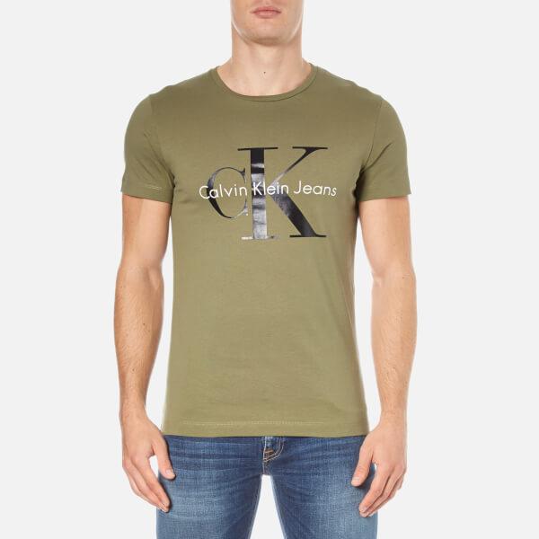 Calvin Klein Men's Re-Issue Crew Neck T-Shirt - Olive Knight