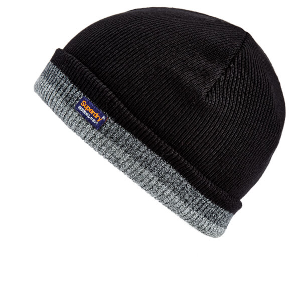 5a7958fa7 Superdry Men's Windhiker Embroidery Beanie Hat - Black