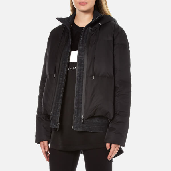 Dkny Women S Long Sleeve Short Hooded Downfill Puffer Coat
