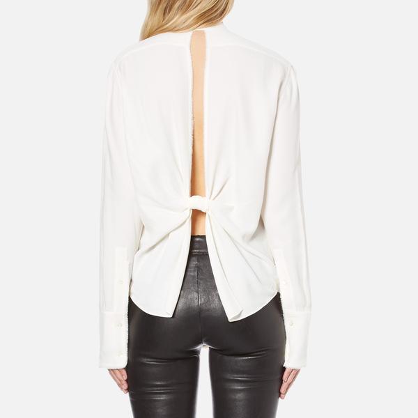 To Buy Helmut Lang open back longsleeved blouse Free Shipping Nicekicks cHCjOH