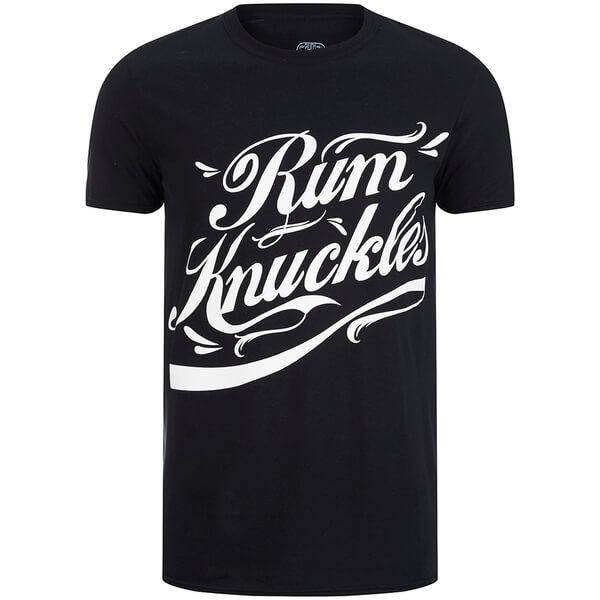 T-Shirt Homme Rum Knuckles Signature Logo -Noir