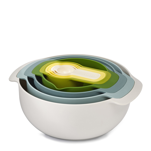 Joseph Joseph Nest Plus 9 Bowl Stacking Set (Opal) - 9 Piece