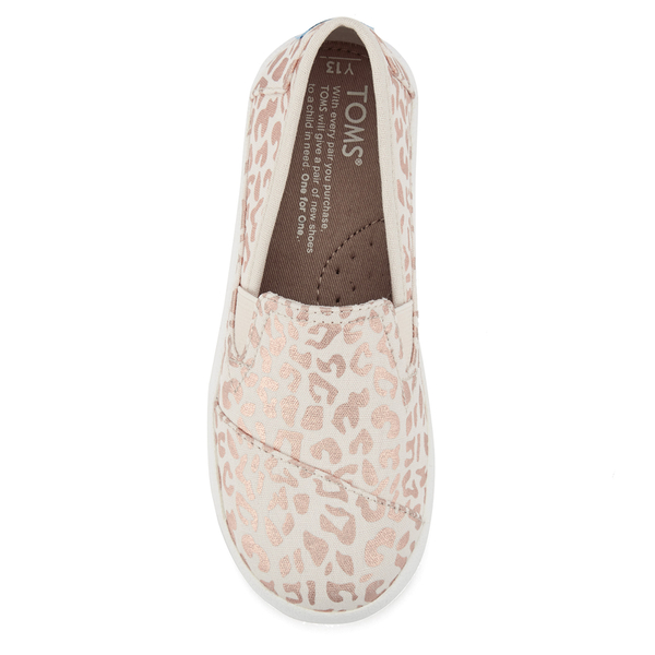 f874401af7b TOMS Kids  Avalon Slip-On Trainers - Natural Cheetah Foil  Image 3