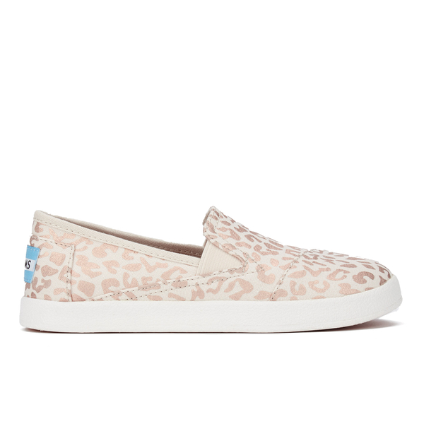 8eeef704d59 TOMS Kids  Avalon Slip-On Trainers - Natural Cheetah Foil  Image 1