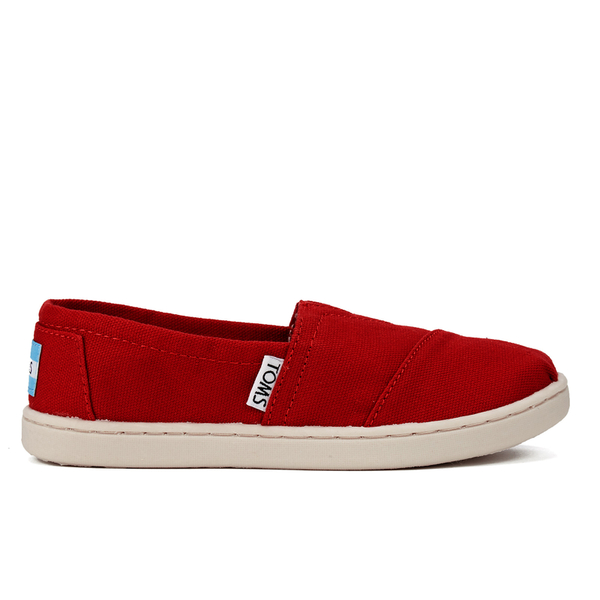 TOMS Kids' Seasonal Classics Slip-On Pumps - Red