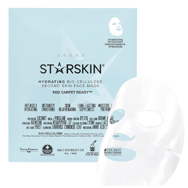 STARSKIN Red Carpet Ready - Hydrating Coconut Bio-Cellulose Second Skin Face Mask