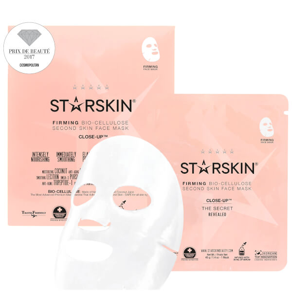 STARSKIN Close-Up™ Coconut Bio-Cellulose Second Skin Firming Face Mask