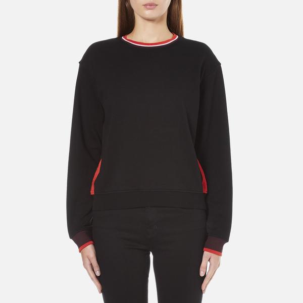 McQ Alexander McQueen Women's Cropped Sweatshirt - Darkest Black