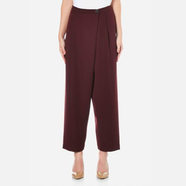 McQ Alexander McQueen Women's Crossover Pants - Port