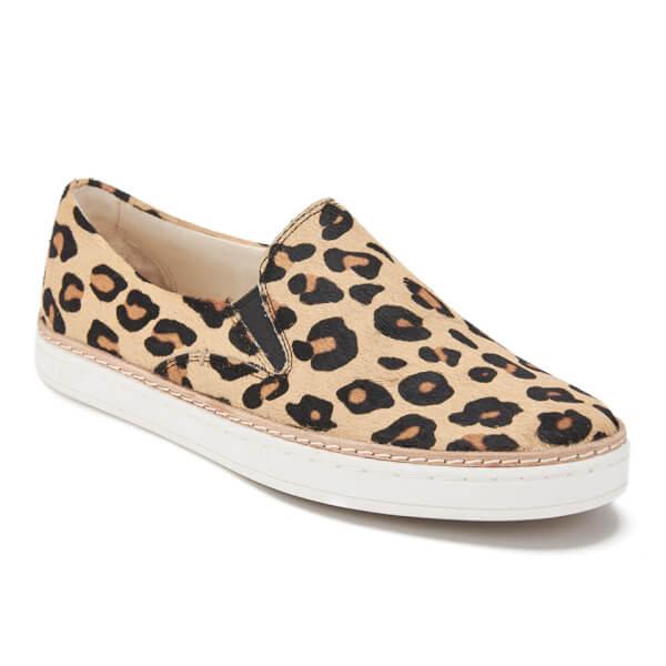 UGG Women's Keile Calf Hair Slip-on Trainers - Chestnut Leopard: Image 2