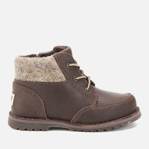 UGG Toddlers' Orin Wool Lace Up Boots - Chocolate