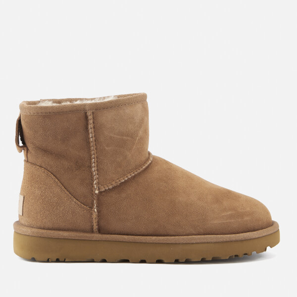 UGG Women's Classic Short II Sheepskin Boots - Chestnut - UK 3.5 - Tan