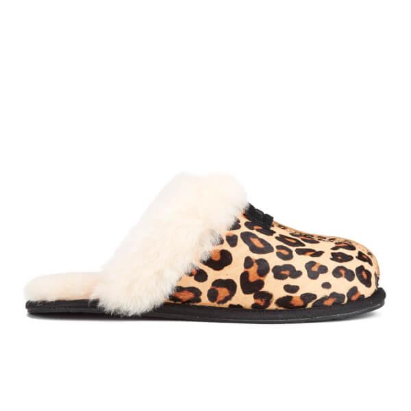 UGG Women's Scuffette II Calf Hair Leopard Slippers - Chestnut Leopard: Image 1