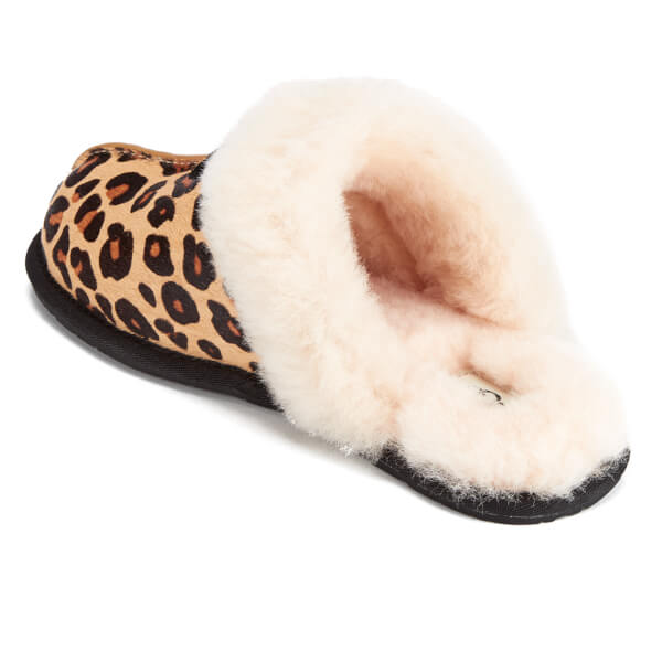Ugg Women S Scuffette Ii Calf Hair Leopard Slippers Chestnut Image 4