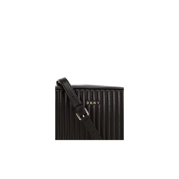 1b062c5321 DKNY Women s Gansevoort Pinstripe Quilted Square Crossbody Bag - Black   Image 4