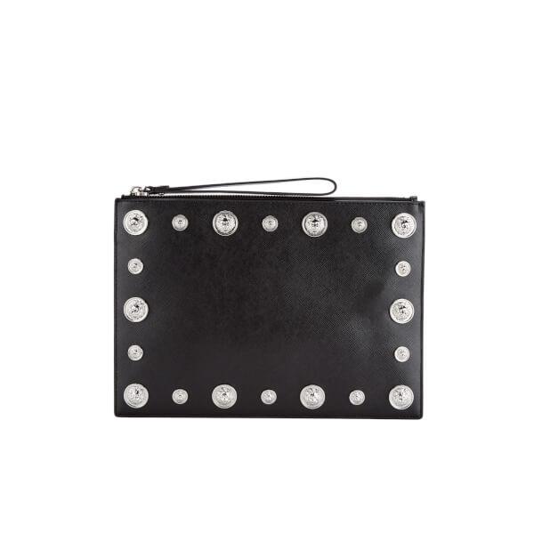 Versus Versace Women's Stud Clutch Bag - Black/Nickel