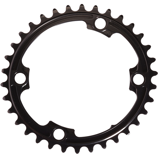 AbsoluteBLACK 110BCD 4 Bolt Spider Mount Oval Chain Ring (Premium): Image 01