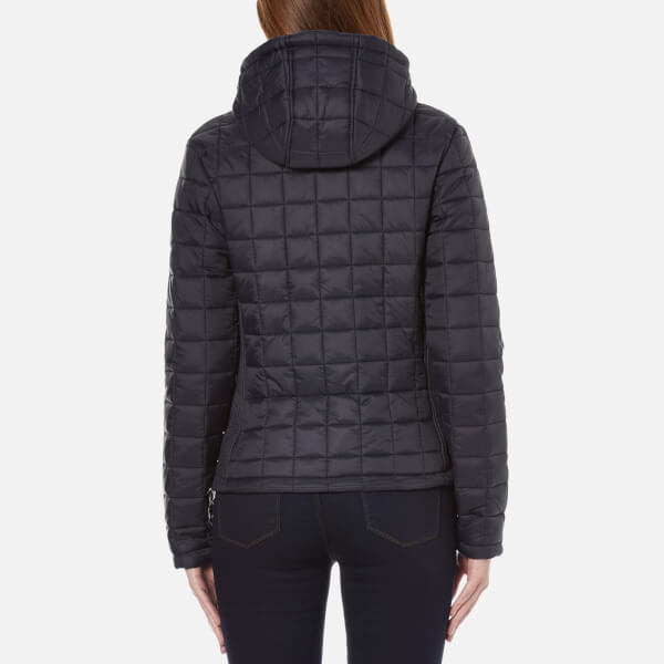 Superdry Women S Hooded Box Quilt Fuji Jacket New Navy